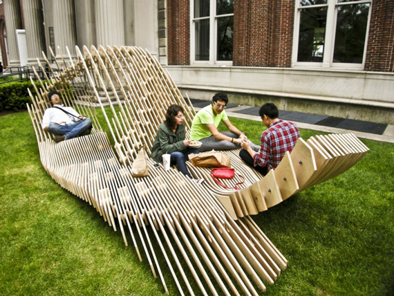 Unique garden furniture trying to balance the madness for Cool outdoor furniture ideas