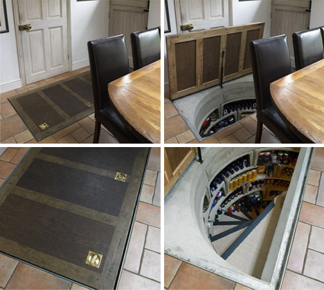 Homes with hidden secrets trying to balance the madness - Wine cellar trap door ...