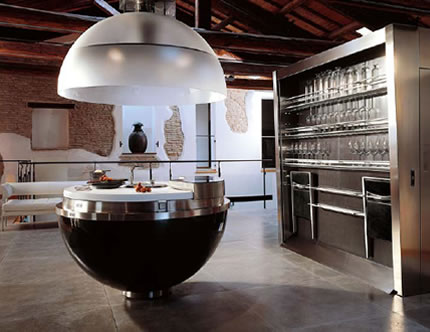 Imagine cooking Christmas dinner in one of these unusual kitchens ...
