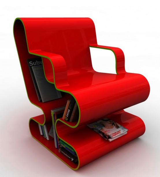 digsdigsCurved-Lounge-Chair-With-Built-In-Book-Storage-2-554x612