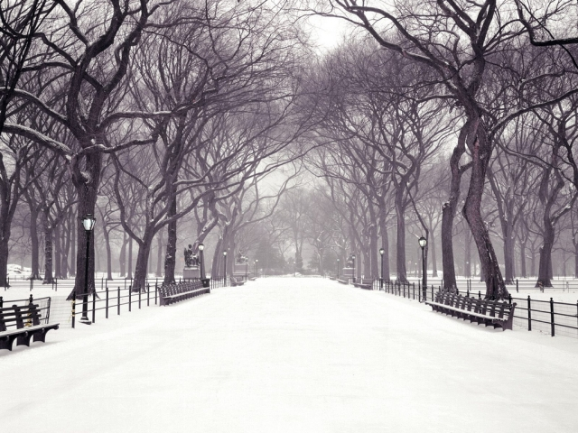 hecallsmeStatuary Walk, Central Park, New York City, New York - Christmas Wallpaper