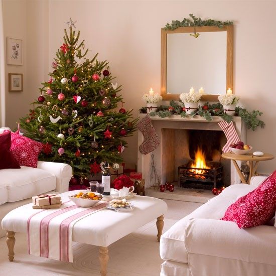 Homeklondike2 10 Best Christmas Living Room Decorating Ideas  Welcoming Country Christmas Living Room