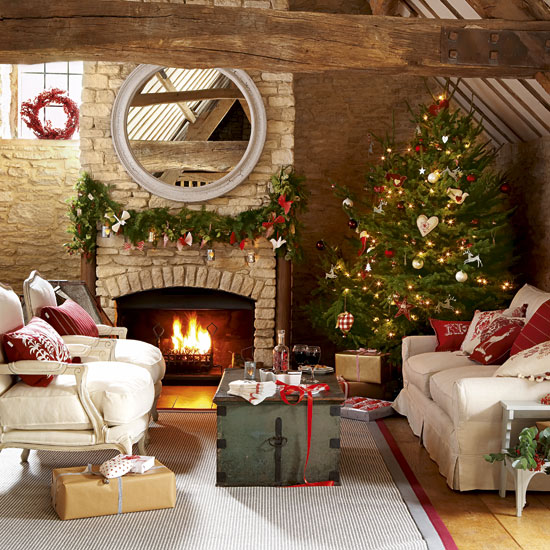 Country Homes And Interiors roomenvyhomemade-christmas-christmas-living-room-country-homes