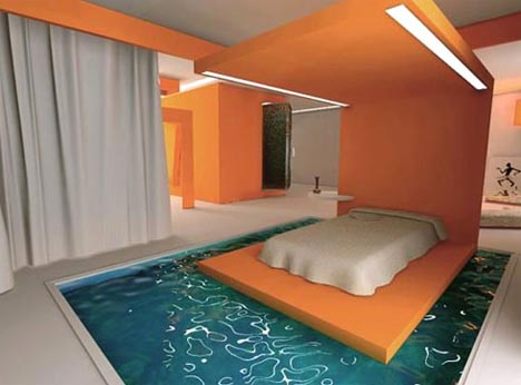 dornobmoat-bed-in-a-swimming-pool