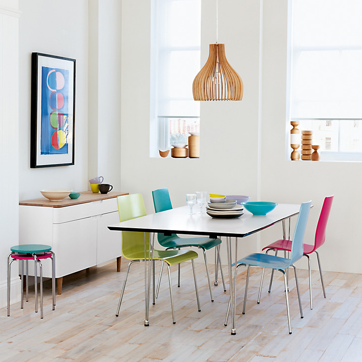 Kitchen Stools At John Lewis: Fun Dining With Rainbow Chairs
