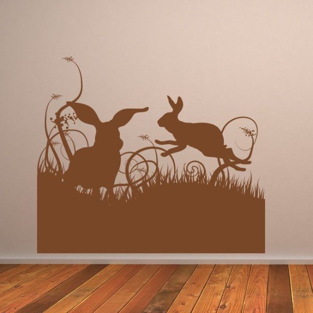 iconwallstickersRabbits-In-Grass-Easter-Wall-Decal-166-01